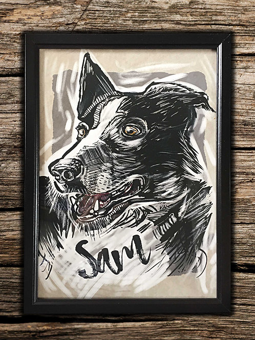 CUSTOM FRAMED PET PRINT