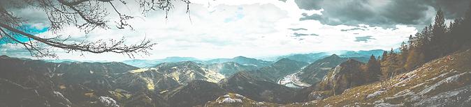 Uitzicht over de bergen.