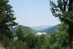 vista della diga di Mignano