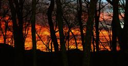tramonto sulla valle