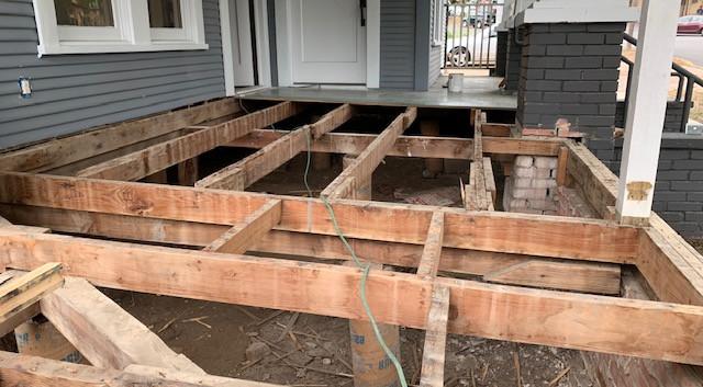 Germer Insurance Porch In Progress