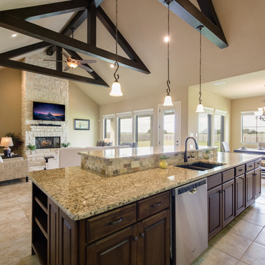 Kitchen, Living, Dining