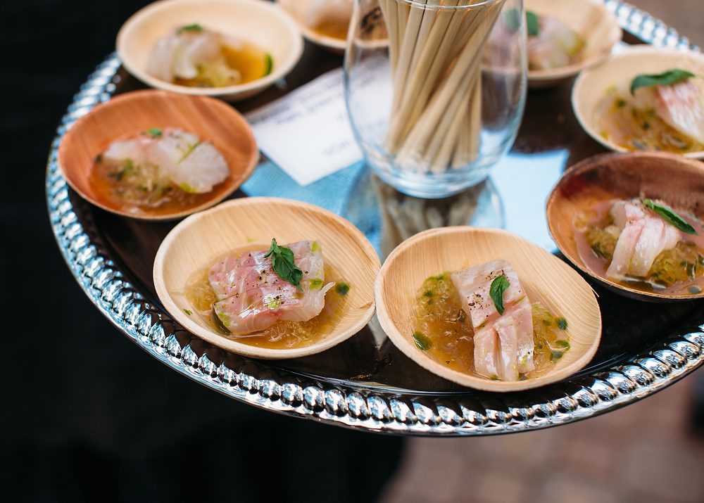 Hors d'oeuvres served at Edible Austin Chef Auction