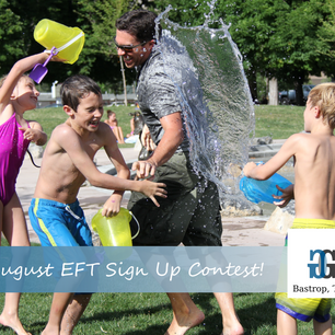 August EFT Sign Up Contest and July's Winner!