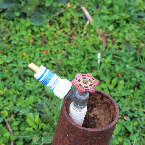 Freeze Miser on Rusted Pipe Faucet