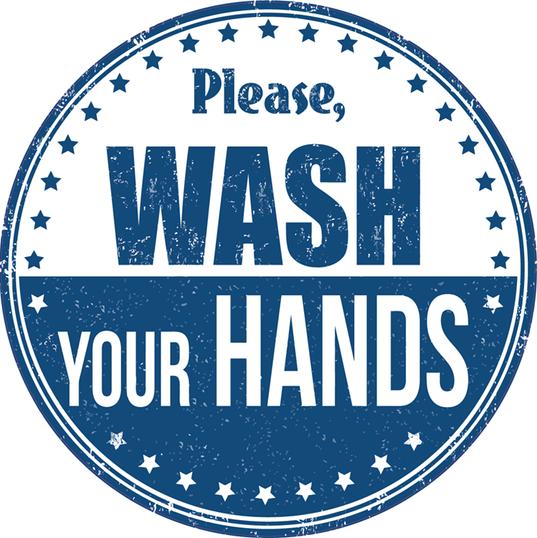 "Hand Wash4 8""x8"" Circle"