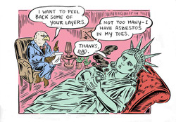 Statue of Liberty Goes to Therapy, The New Yorker