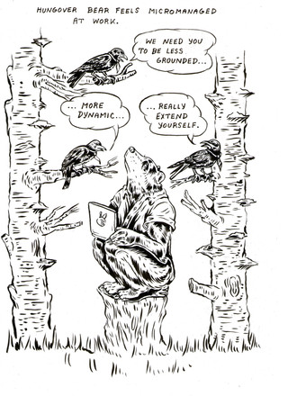 Hungover Bear//Micromanaged