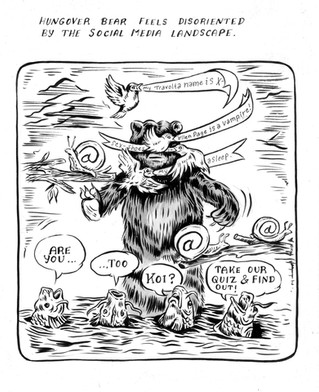 Hungover Bear//Social Mediau