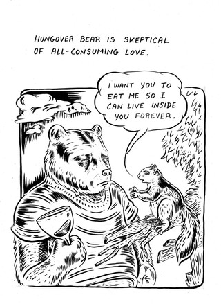 Hungover Bear//All Consuming Love, from
