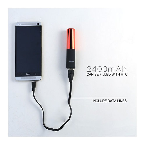 Remax RPL-12 2400mah Lipstick Portable Power Bank