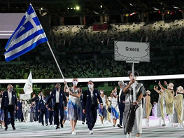 Greece leads out marching order for Parade of Nations