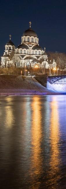 Zveryno Bridge in Vilnius, Lithuania.