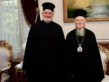 Archbishop Elpidophoros Meets With Ecumenical Patriarch Bartholomew