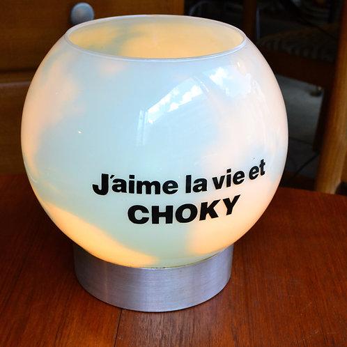 VENDU/Lampe vintage Choky mappemonde années 70