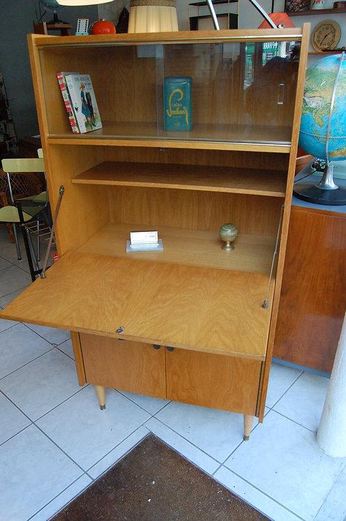 VENDU/Secrétaire années 60 bureau vintage chêne blond