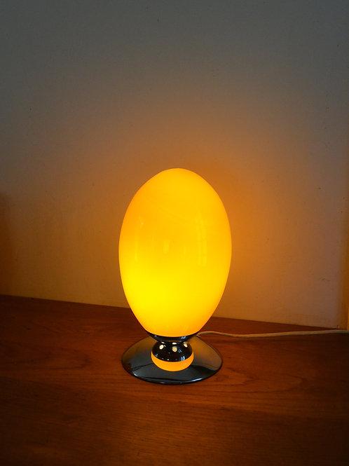 Lampe oeuf 60/70 opaline orange chrome