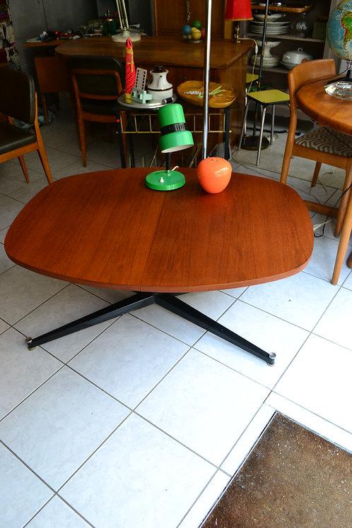 VENDU/Table vintage monte baisse teck métal 60 avec rallonge