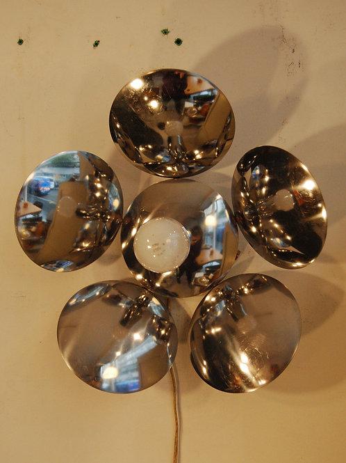 VENDU/Applique lustre vintage 70s chrome fleur Reggiani