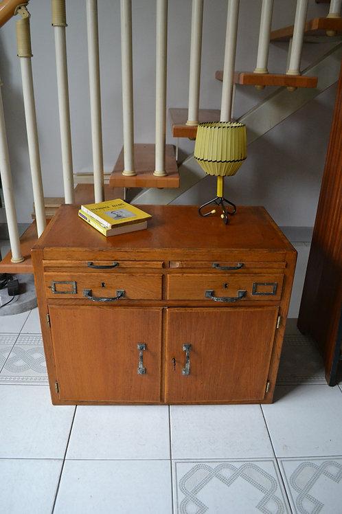 Buffet bas style meuble de métier chêne 50 60