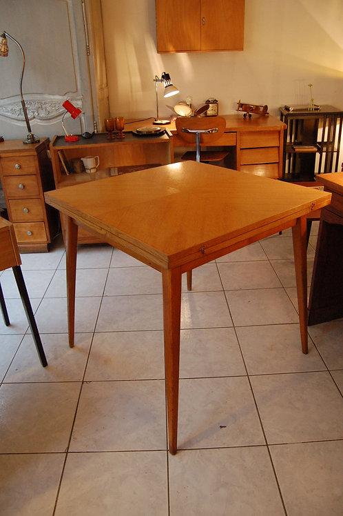 VENDU/Table à manger vintage extensible années 60 chêne