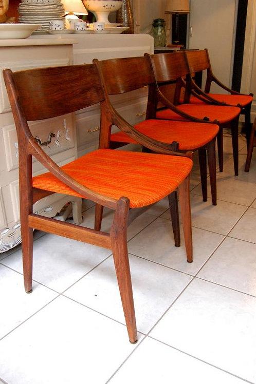 VENDU/4 chaises scandinaves H.Vestervig Eriksen