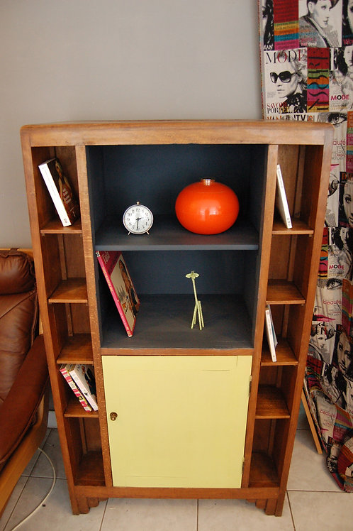VENDU/Bibliothèque vintage meuble de rangement 40 50