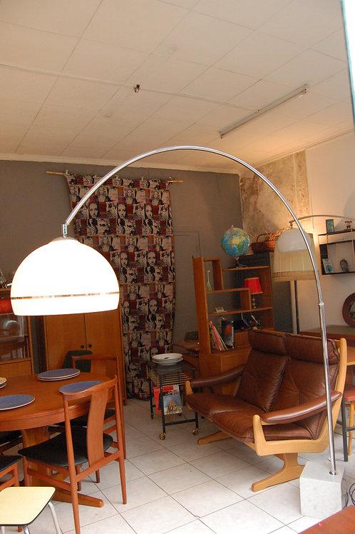 VENDU/Lampadaire arc vintage 70s pied marbre de Carrare