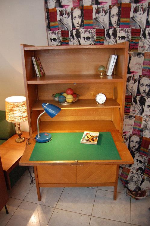 VENDU/Secrétaire vintage bureau années 60 chêne doré