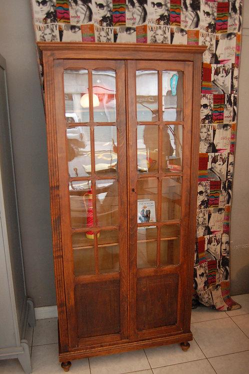 VENDU/Armoire parisienne vitrée années 50 bibliothèque vitrine vintage