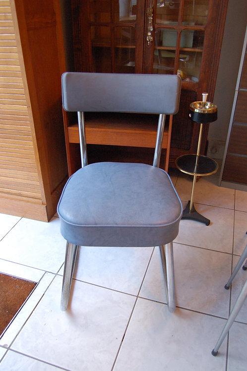 VENDU/Chaise de bureau années 50 Ronéo skaï bleu