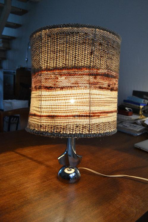 Lampe années 70 chrome laine