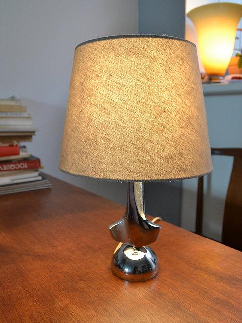 Lampe vintage années 70 acier chromé