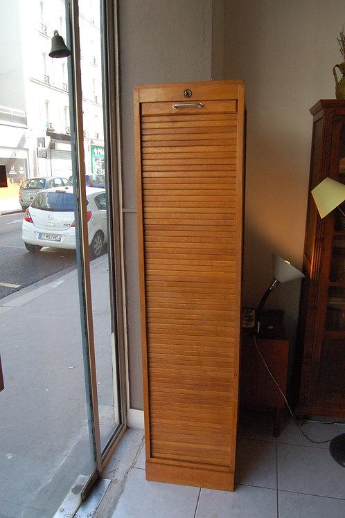 VENDU/Meuble à rideau années 50 60 rangement chêne blond