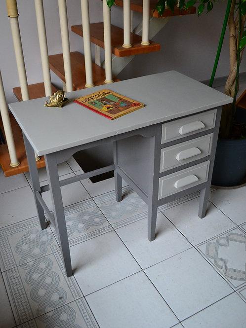 VENDU/PROMO Bureau années 60 gris chêne