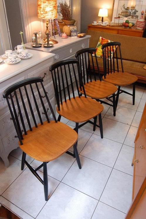VENDU/4 chaises scandinaves I.Tapiovaara