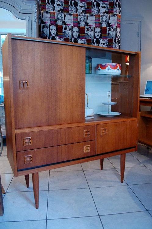 VENDU/Buffet vitrine 60s style danois teck