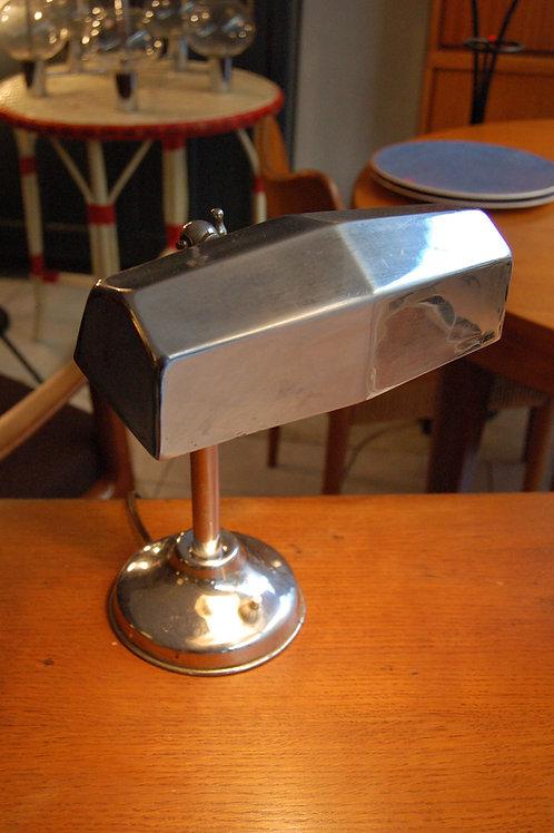 VENDU/Lampe de notaire années 30 chrome vintage