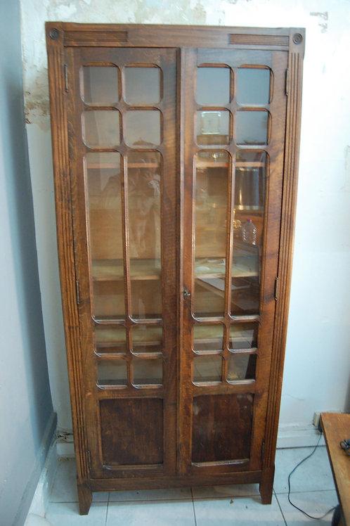VENDU/Bibliothèque vintage vitrine parisienne 40 50 chêne