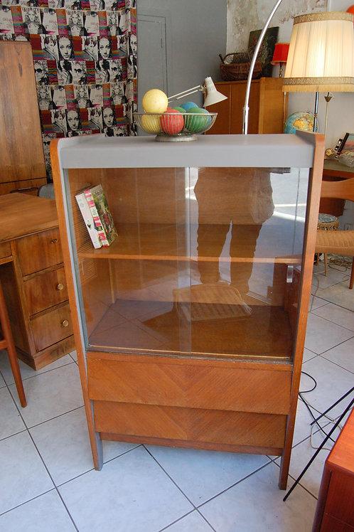 VENDU/Commode vintage vitrine années 60 chêne