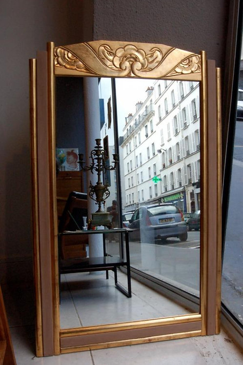 VENDU/Miroir art déco décor or fin