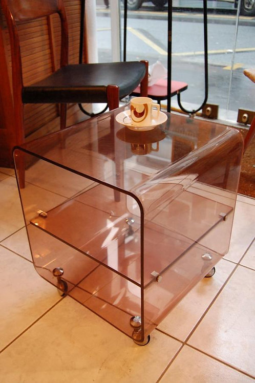 VENDU/Table de chevet, d'appoint plexiglass 70s