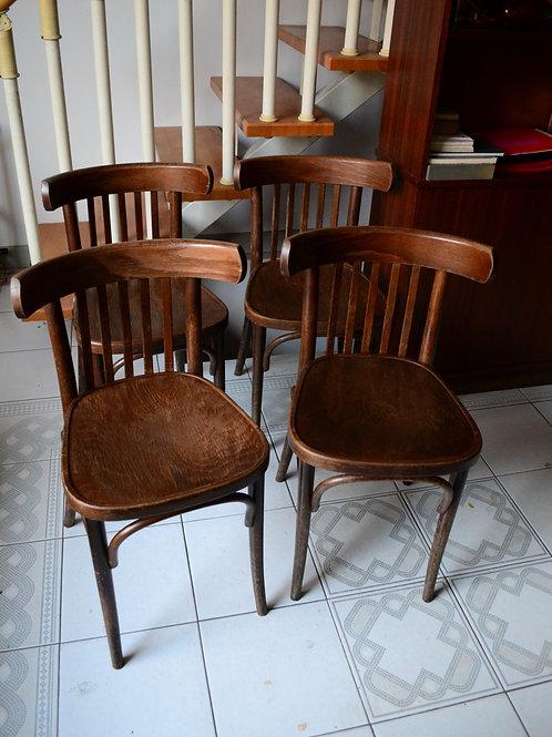 VENDU/4 chaises bistrot Thonet vintage