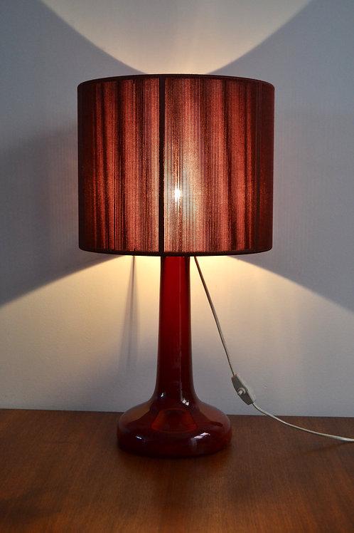 PROMO/Lampe scandinave Holmegaard verre rouge années 70