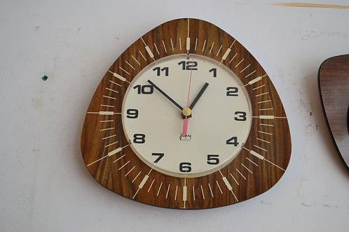 PROMO Pendule vintage formica horloge Japy 60 70