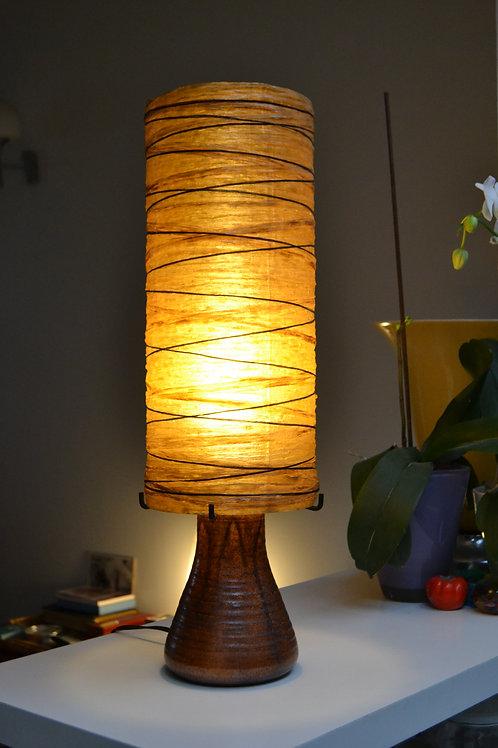 Lampe Accolay années 60 céramique et résine