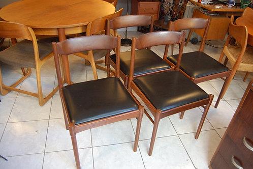 VENDU/ 4 chaises scandinaves teck années 60