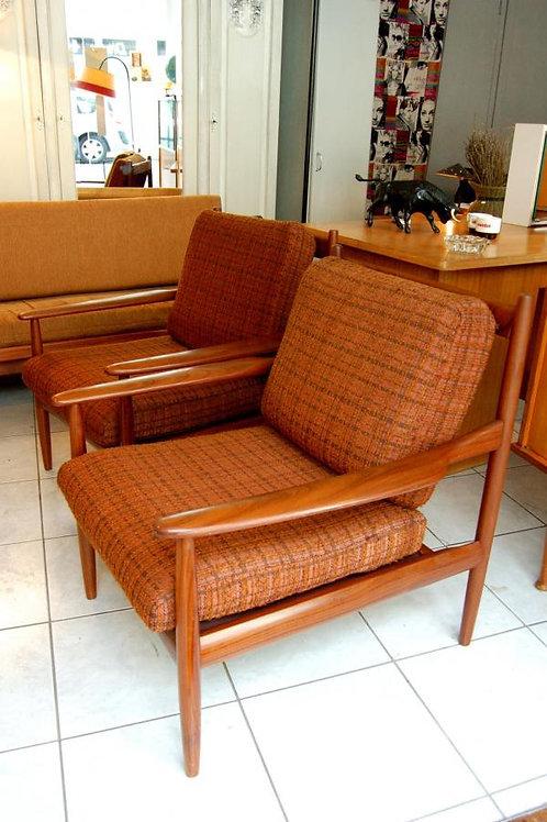 VENDU/2 fauteuils danois Grete Jalk 50s