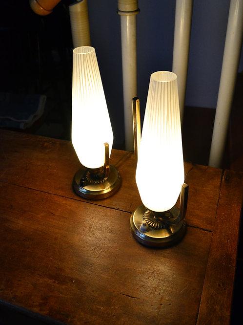 VENDU/Paire de lampes de chevet Art déco années 50