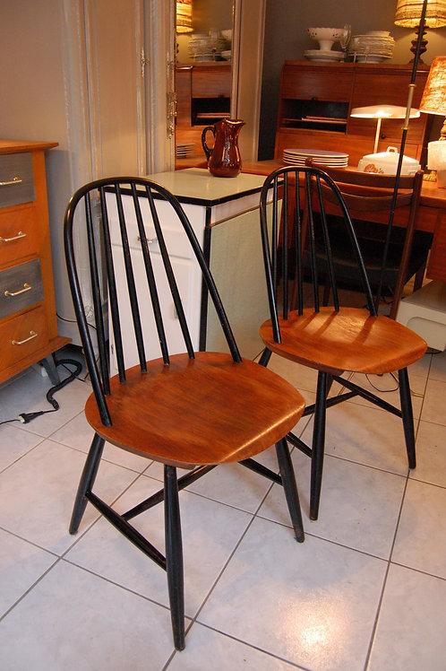 VENDU/2 chaises scandinaves teck Carl Malmsten 60s